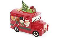 Банка керамическая для хранения сладостей Новогодний автобус 4.6л BonaDi 827-811