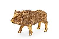 Декоративная статуэтка Wild boar 11.5см, цвет - золото BonaDi 707-522