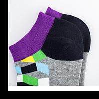 Набор низких носков, 6 пар, размер 39-45, разноцветные, яркие, happy socks, мужские/женские - унисекс, фото 8