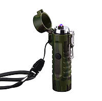 USB запальничка – ліхтарик електроімпульсна (ЮСБ-117-2), фото 1