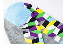 Набор низких носков, 6 пар, размер 39-45, разноцветные, яркие, happy socks, мужские/женские - унисекс, фото 9