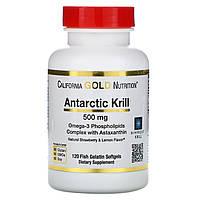 ОРИГІНАЛ!California Gold Nutrition масло антарктичного криля RIMFROST з астаксаном,500 мг.,120 капсул з США