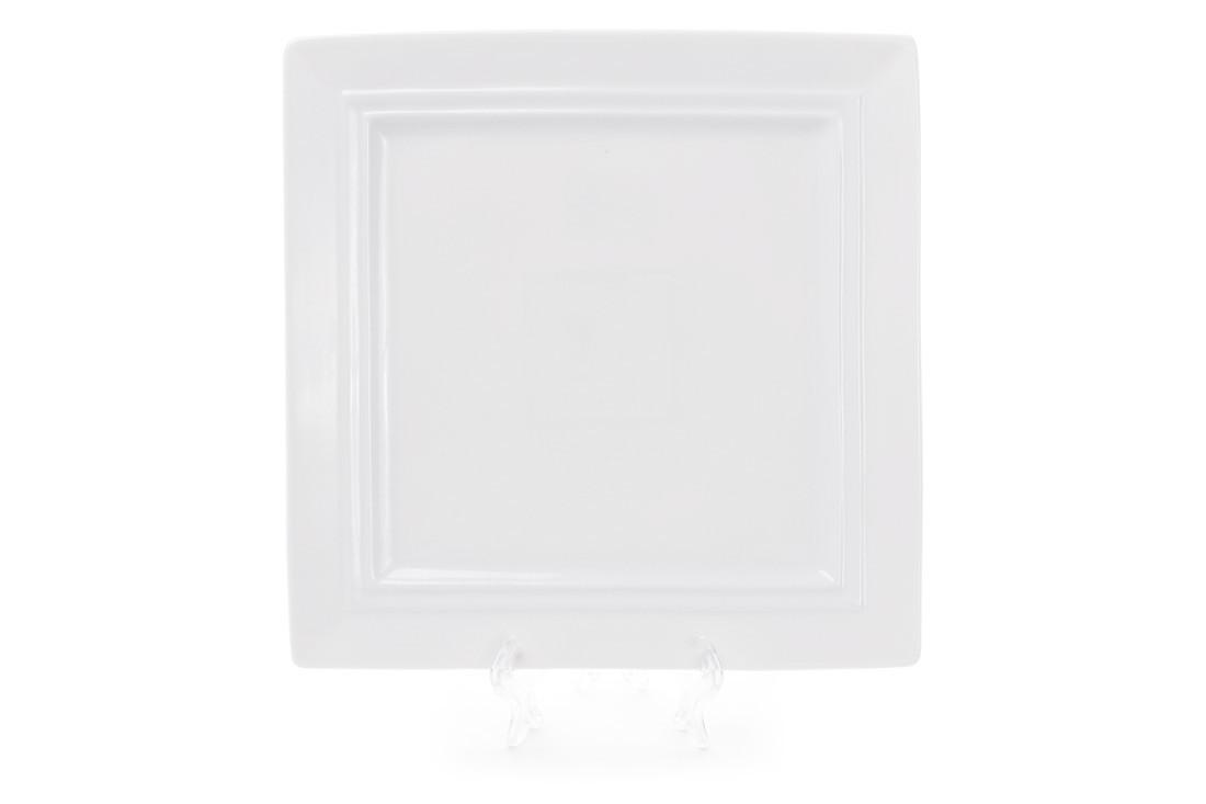 Тарелка фарфоровая квадратная 25см, цвет - белый BonaDi 988-101