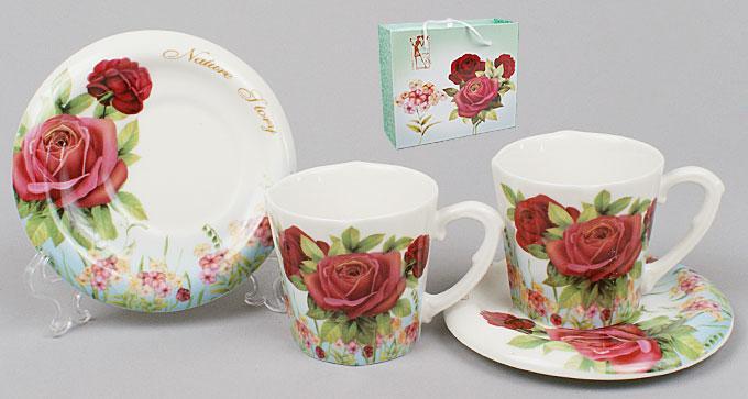 Кофейный сервиз 4пр.: 2 чашки + 2 блюдца BonaDi 541-142