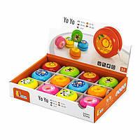 Игрушка Viga Toys Йо-йо, 12 шт. в дисплее (53769)