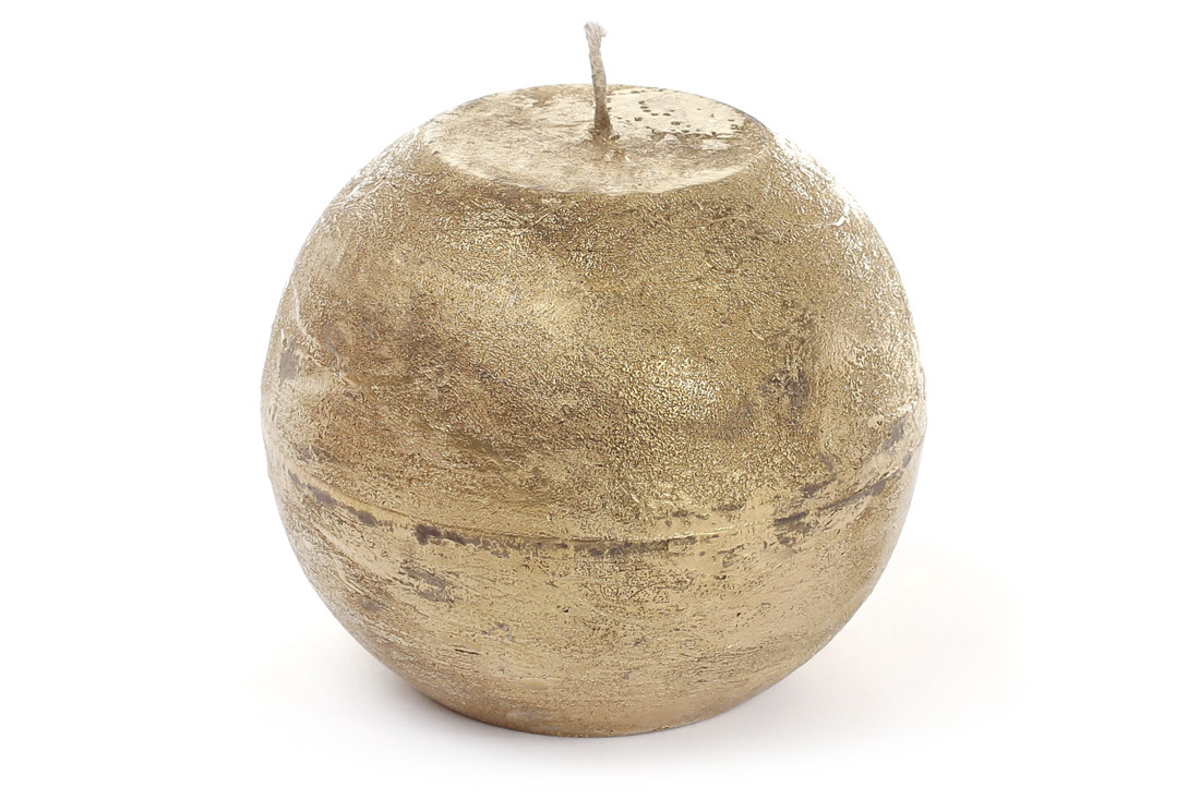 Свеча в форме шара 10см, цвет - золото BonaDi B010_1-9.2