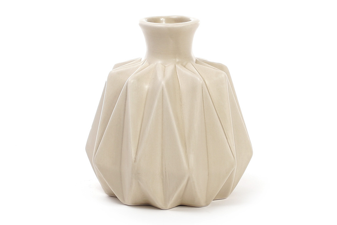 Ваза керамическая 13см, цвет - песочный BonaDi 733-151