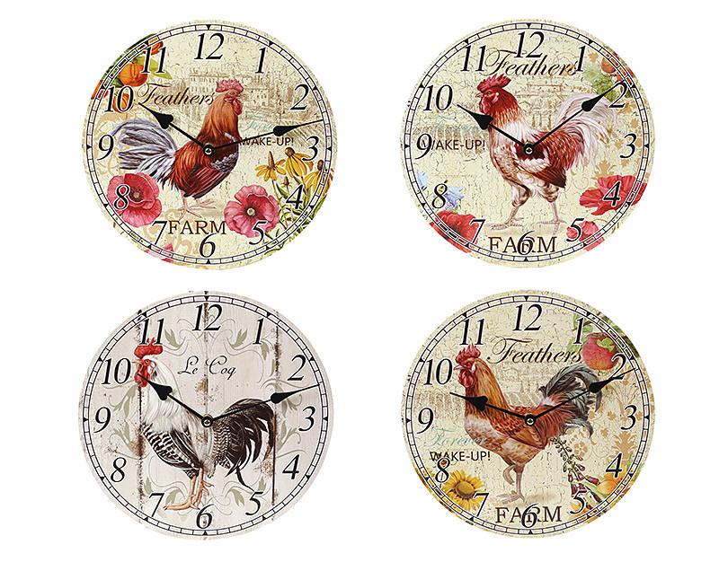 Часы настенные деревянные Петух BonaDi 487-219