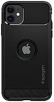 Чехол Spigen для iPhone 11 Rugged Armor, Matte Black