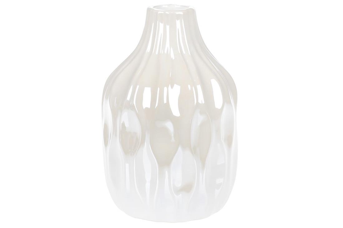 Ваза керамическая, 15,6см, цвет - белый перламутр BonaDi 795-400