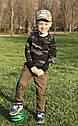 Детские летние хлопковые брюки джоггеры для мальчика хаки (р.146-164 см) (KIT-Lime, Украина), фото 4