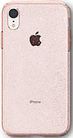 Чехол Spigen для iPhone XR Liquid Crystal Glitter Rose Quartz