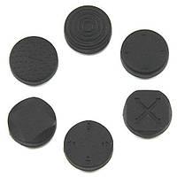 Cиликоновые накладки на аналоговые стики PS Vita черные комплект 6 шт (Черкассы)