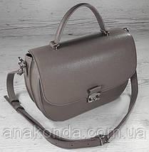 582 Натуральная кожа Сумка женская бежевая Кожаная сумка кофейная кожаная сумка светло коричневая женская, фото 2