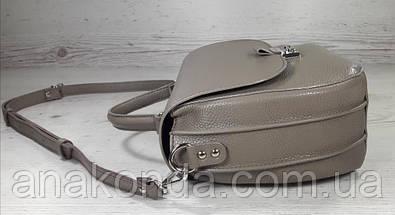 582 Натуральная кожа Сумка женская бежевая Кожаная сумка кофейная кожаная сумка светло коричневая женская, фото 3