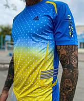 Мужская футболка Adidas Clima 365. Желто-голубая