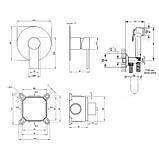 Набор для гигиенического душа со смесителем Q-tap Form CRM 001AB, фото 2