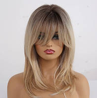 Парик пшеничный, парик омбре, парик блонд