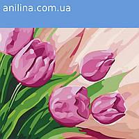 """Картина по номерам. """"Перские тюльпаны 2"""" 30*30см KHO2948"""