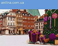 """Картина по номерам. Brushme """"Новогодняя Варшава"""" GX33176"""