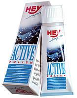 Уход и пропитка для кожи и текстиля Hey-Sport Active Shoe Polish чёрная 75мл