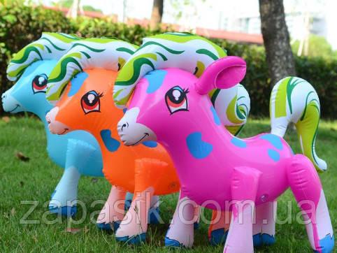 Надувные Пони Для Детей Надувные Игрушки Надувная Пони Размер 30 х 37 См В Упаковке 12 Шт