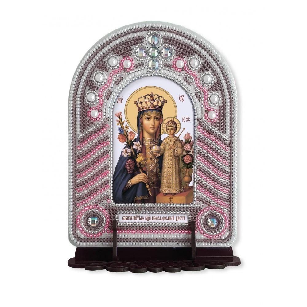Набор для вышивки иконы с рамкой-киотом Неувядаемый цвет