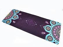 Коврик для йоги Замшевый 183 х 68 х 0,3 см с мандалой