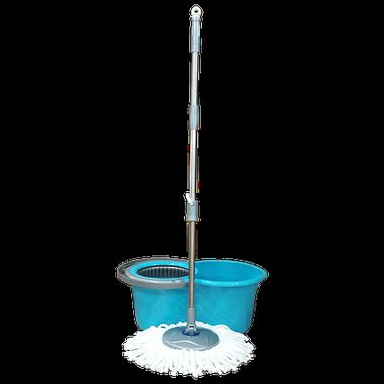 Набор для уборки Planet Spin Mop Mini 14 л голубой, фото 2