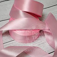 Лента сатиновая розовая 30мм
