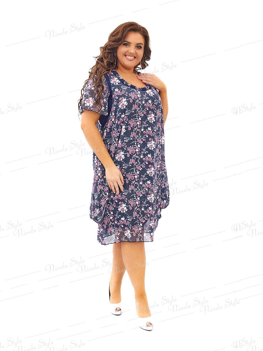 Нарядное шифоновое платье 441 56