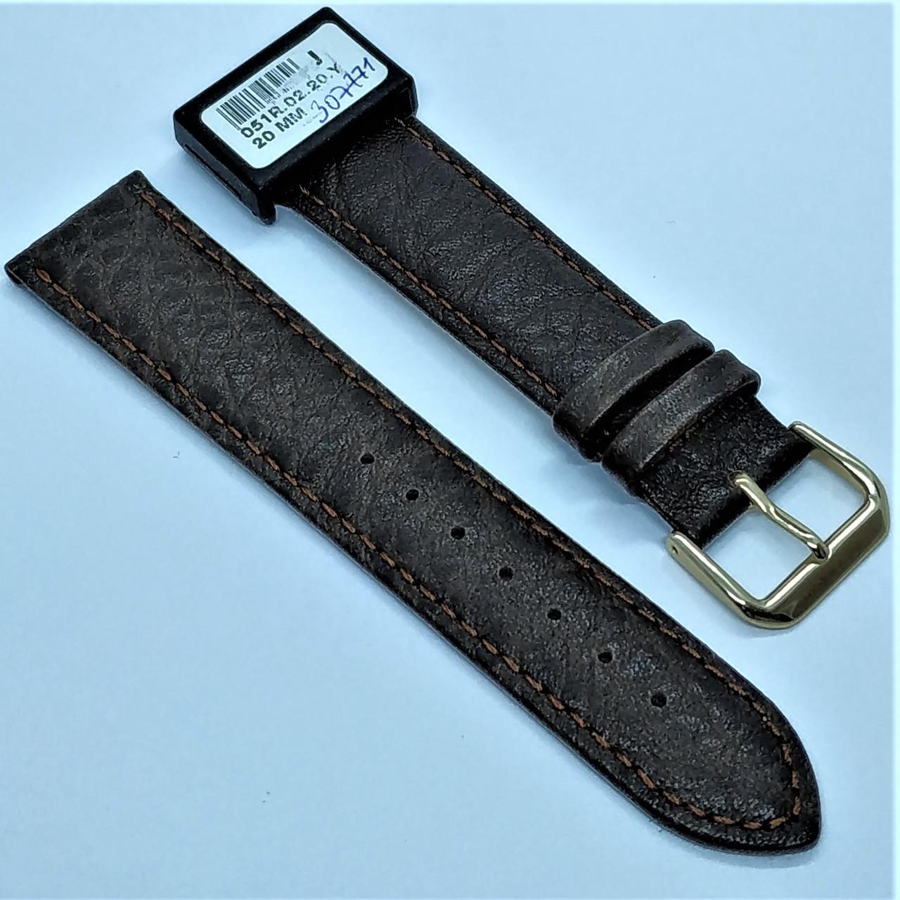 20 мм Кожаный Ремешок для часов CONDOR 051.20.02 Коричневый Ремешок на часы из Натуральной кожи