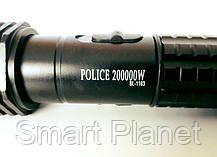 Металлический Фонарик POLICE + ОТПУГИВАТЕЛЬ (мощный электрический разряд), фото 3
