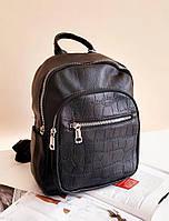 Женский черный рюкзак из кожзама