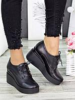Туфли кожаные на платформе 7282-28