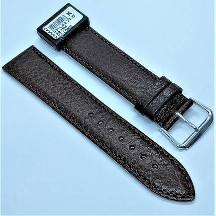 22 мм Кожаный Ремешок для часов CONDOR 051L.22.02 Коричневый Ремешок на часы из Натуральной кожи удлиненный, фото 2