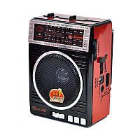Радиоприемник Golon RX-078 FM AM USB и SD слот фонарик Черный/Красный