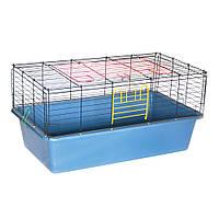 Клетка для средних грызунов Лори Гранд Кролик (910 х 520 х 450 мм), синяя, покрытие краска, разборная