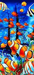 Полотенце пляжное  Подводный мир-3