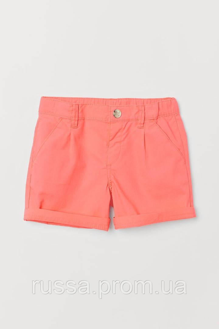 Летние яркие шортики с отворотами на штанинах НМ для девочки
