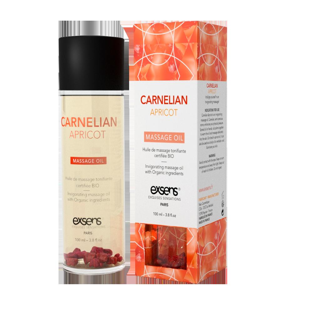 Распродажа! Массажное масло EXSENS Carnelian Apricot (бодрящее с сердоликом) 100мл (срок 09.2020)