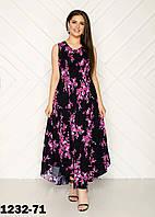 Штапельное летнее женское платье большого размера в Украине
