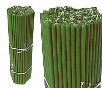 Свечи восковые зеленые, номерные (№30) (1 кг.)