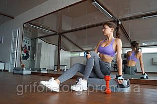 Гантели для фитнеса и аэробики обрезиненные Power System 3 kg PS-4026 (1 шт.), фото 3