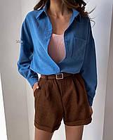 """Рубашка женская джинсовая с карманом размеры S-L  """"IRINA"""" купить недорого от прямого поставщика"""