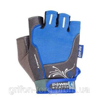 Перчатки для фитнеса и тяжелой атлетики Power System Woman's Power PS-2570 женские Blue XL, фото 2