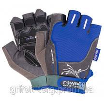Перчатки для фитнеса и тяжелой атлетики Power System Woman's Power PS-2570 женские Blue XL, фото 3
