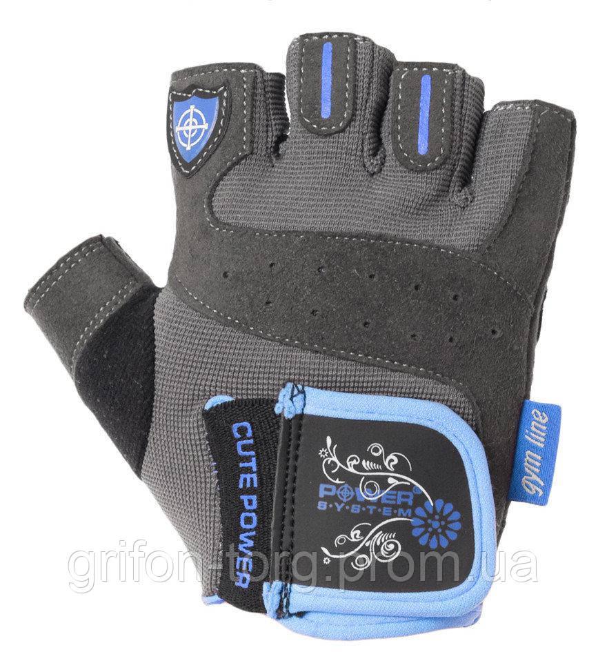 Перчатки для фитнеса и тяжелой атлетики Power System Cute Power PS-2560 женские Blue XL