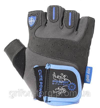 Перчатки для фитнеса и тяжелой атлетики Power System Cute Power PS-2560 женские Blue XL, фото 2