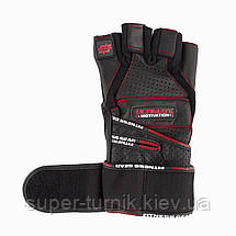 Перчатки для тяжелой атлетики Power System Ultimate Motivation PS-2810 S Black/Red, фото 3